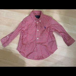Polo Ralph Lauren Red Gingham baby boys shirt 12M